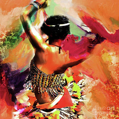 Dance Art Painting - Tribal Dance 0321 by Gull G