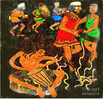 Painting - Tribal  Dance by Belinda Threethsl
