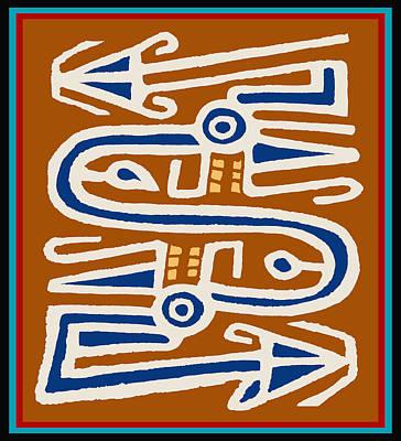 Digital Art - Tribal Flight by Vagabond Folk Art - Virginia Vivier