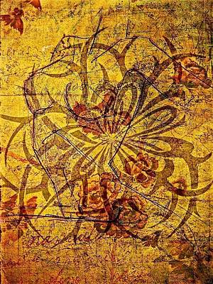Tribal Flower Original by Paulo Zerbato