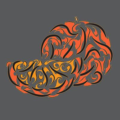 Tribal Fruit, Orange  Original