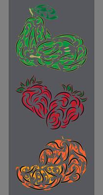 Tribal Fruit Series  Original