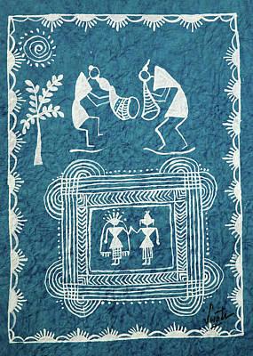 Indian Tribal Art Painting - Tribal Gods by Swati Sharma