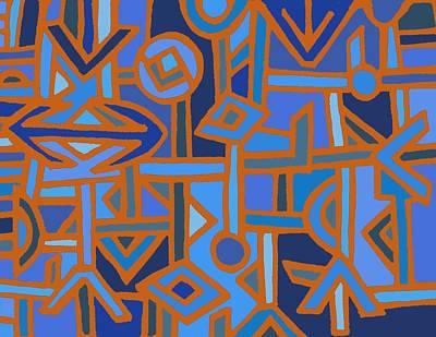 Digital Art - Tribal Kuba Traffic by Vagabond Folk Art - Virginia Vivier