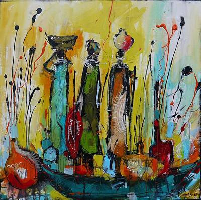 African Painting - Tribal Life 2 by Irina Rumyantseva