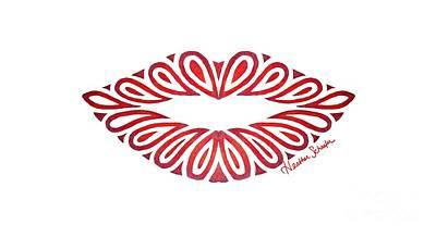 Tribal Lips Art Print