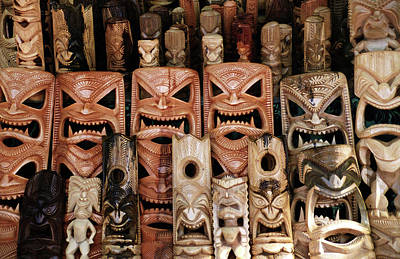 Wall Art - Photograph - Tribal Masks And Figures by Alynne Landers