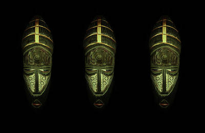 Photograph - Tribal Masks Private by David Dehner