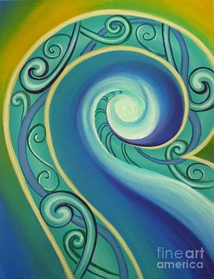 Tribal Ocean Art Print by Reina Cottier
