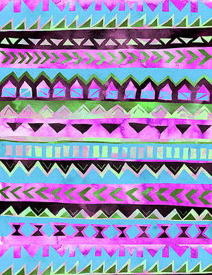 Painting - Tribal Pattern 01 by Aloke Creative Store