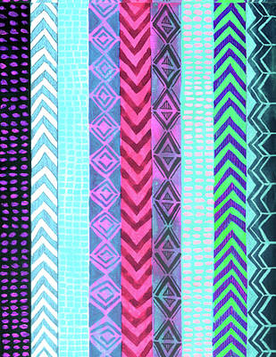Painting - Tribal Pattern 04 by Aloke Creative Store