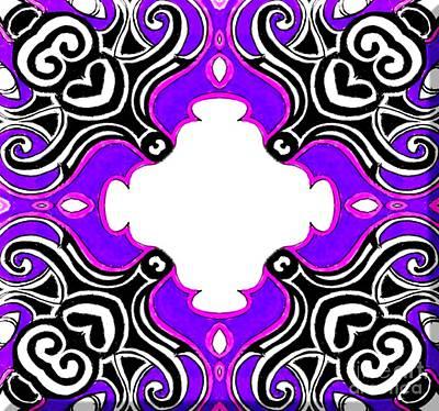 Airplane Paintings - Tribal Pattern - Purple by Graham Roberts