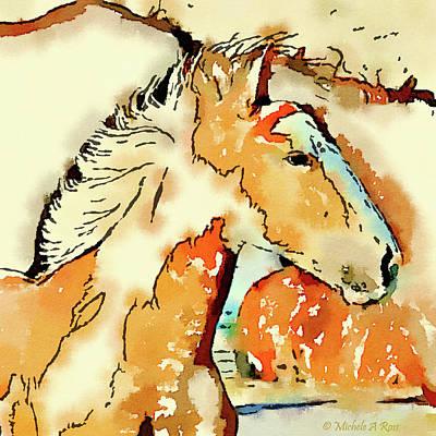 Tribal Pony Art Print by Michele Ross