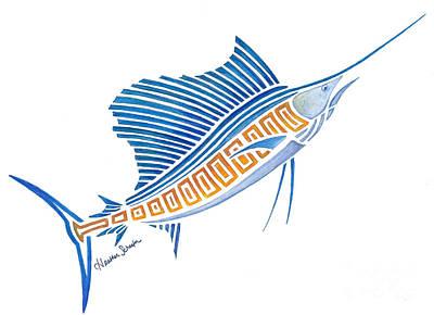 Tribal Sailfish Art Print