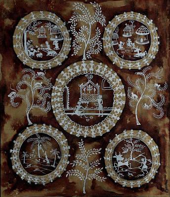 Indian Tribal Art Painting - Tribal Touch by Pattnaik Amrita