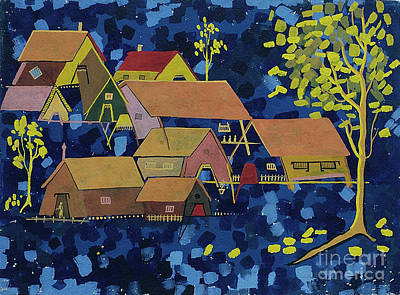 Painting - Tribal Village by Vilas Malankar