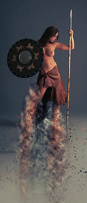 Ancient Symbols Photograph - Tribal Warrior by Nichola Denny