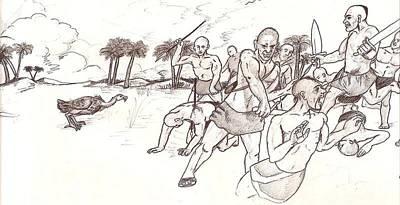 Tribal Wars Ancient Summer  Art Print