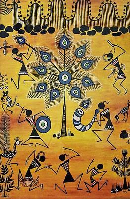 Warli Painting - Tribals II by Ivy Sharma