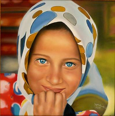 Mohammad Painting - Tribe Girl by Hanieh Mohammad Bagher