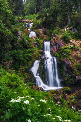 Photograph - Triberg Waterfalls by Shuwen Wu