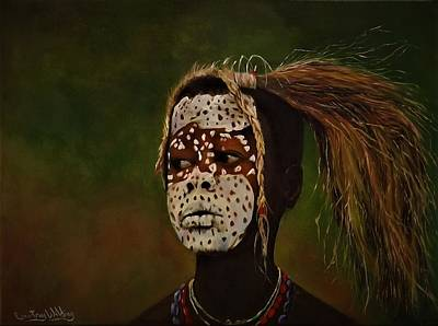 Painting - Tribesman  by Courtney Wilding