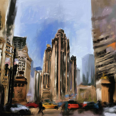 Painting - Tribune Tower I 522 1 by Mawra Tahreem