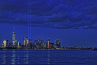 Photograph - Tribute In Light  # 5 by Allen Beatty
