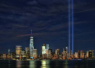 Photograph - Tribute In Light  # 6  - 2015 by Allen Beatty