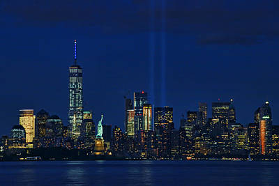 Photograph - Tribute In Light # 2 by Allen Beatty