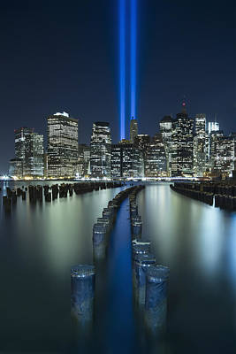 Twin Towers Photograph - Tribute In Light by Evelina Kremsdorf