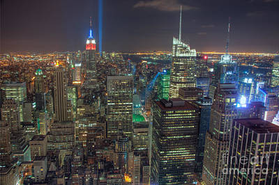 Photograph - Tribute In Light Iv by Clarence Holmes
