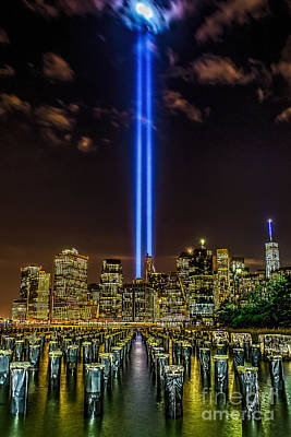 Photograph - Tribute Lights 2015 by Nick Zelinsky