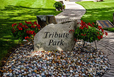 Photograph - Tribute Park Marker by Grace Grogan