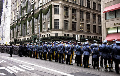 Police Officer Photograph - Tribute To A Fallen Brother by John Rizzuto