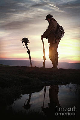 Photograph - Tribute To A Fallen Comrade World War One by Lee Avison