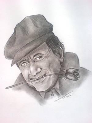 Tribute To A Legend Dev Anand Art Print by Jaiteg Singh