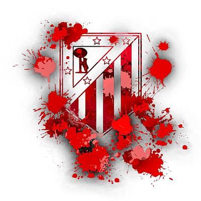 Football Digital Art - Tribute To Atletico Madrid by Alberto RuiZ