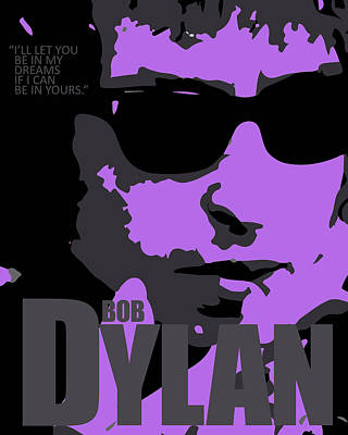Tribute To Bob Dylan Art Print