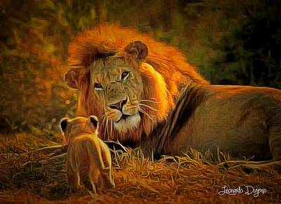 Father Digital Art - Tribute To Cecil - Da by Leonardo Digenio