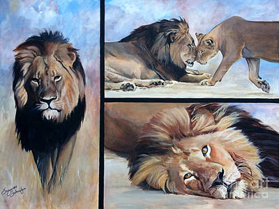 Tribute To Cecil The African Lion Art Print by Suzanne Schaefer