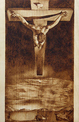 Pyrography Pyrography - Tribute To Dali by Conrad  Pinto