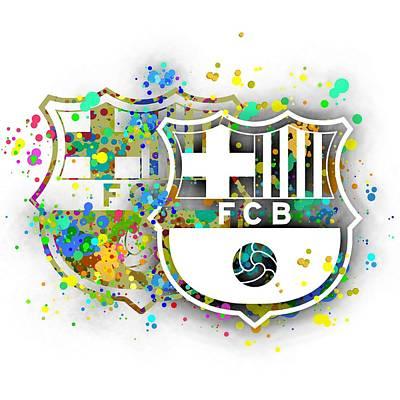 Football Digital Art - Tribute To F C Barcelona 7 by Alberto RuiZ