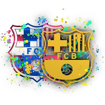 Football Digital Art - Tribute To Fc Barcelona 8 by Alberto RuiZ
