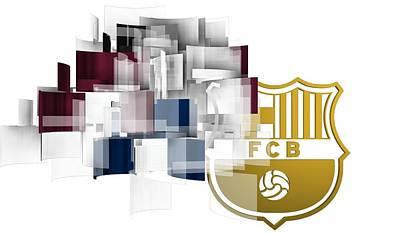 Barcelona Digital Art - Tribute To Fc Barcelona 6 by Alberto RuiZ