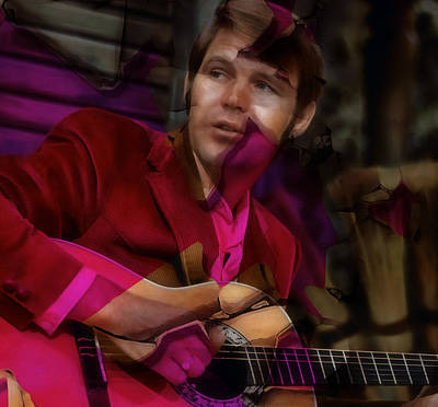 Mixed Media - Tribute To Glen Campbell by Marvin Blaine