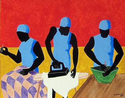 Painting - Tribute To Jacob Lawrence by Otis L Stanley