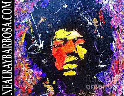 Painting - Tribute To Jimi Hendrix by Neal Barbosa