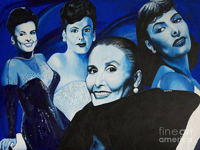 Painting - Tribute To Lena Horne by Chelle Brantley
