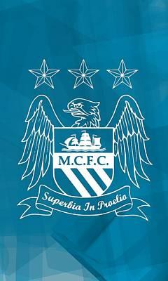 Football Digital Art - Tribute To Manchester City by Alberto RuiZ